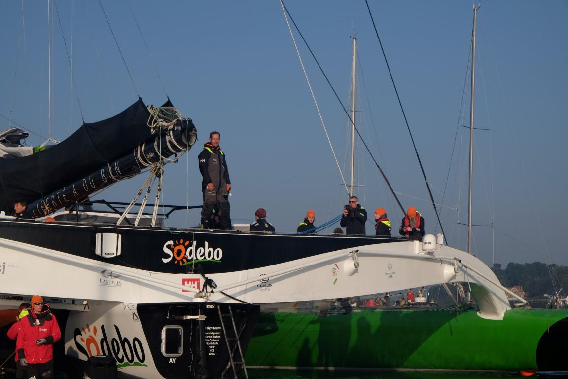 Thomas Coville (Team Sodebo Voile) and the Club Nautique du Rohu
