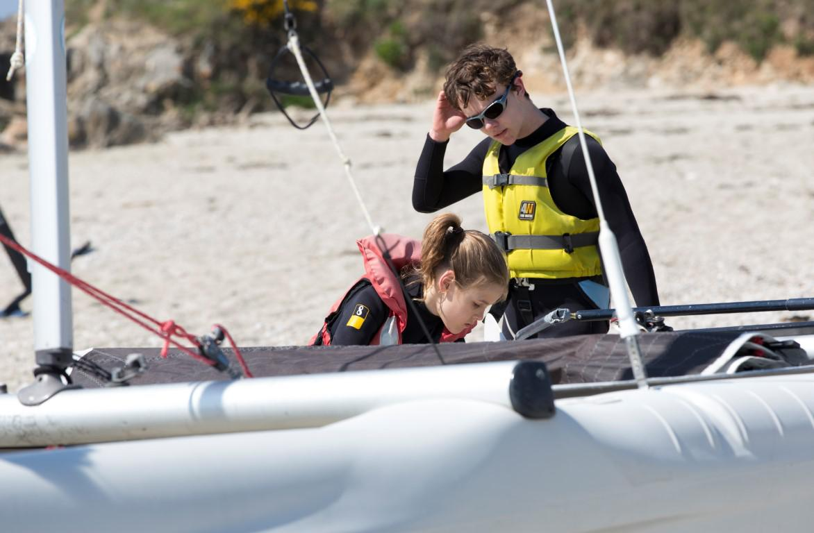 Spring sailing sessions at  the Club Nautique du Rohu