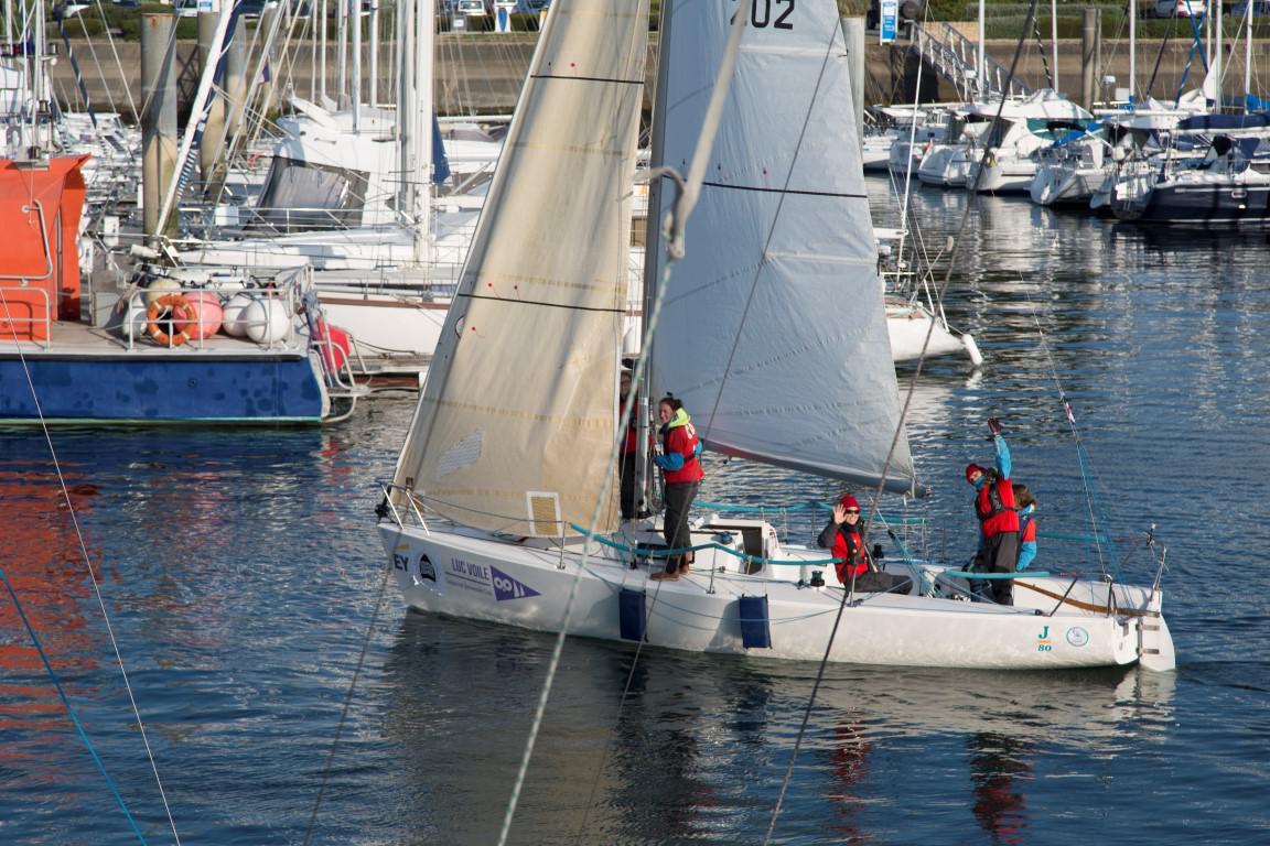 J80 of the Club Nautique du Rohu at Course Croisière Edhec