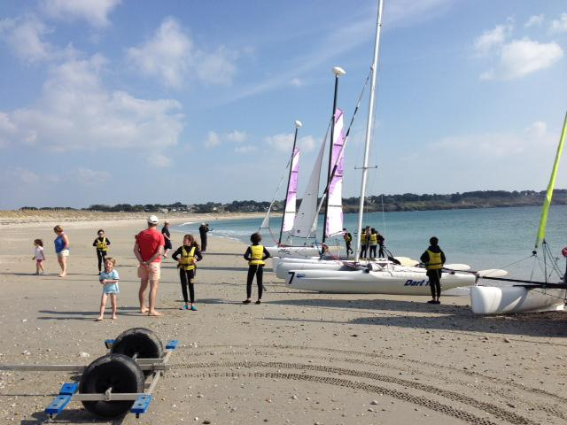 Sailing at  the Club Nautique du Rohu... and swimming suits while on the Goh Velin beach