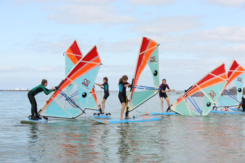 windsurfing at Club Nautique du Rohu