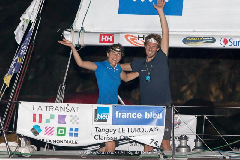 Clarissee and Tanguy arrival of the Transat AG2R La Mondiale