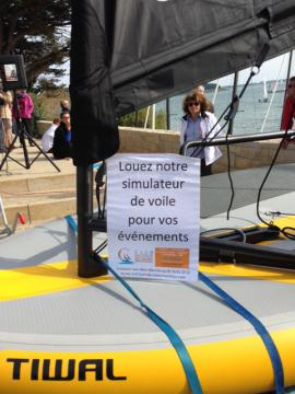 Sailing simulator with Tiwal at the Mille Sabords du Crouesty