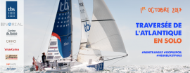 Clarisse gets ready for the Mini Transat 7.5