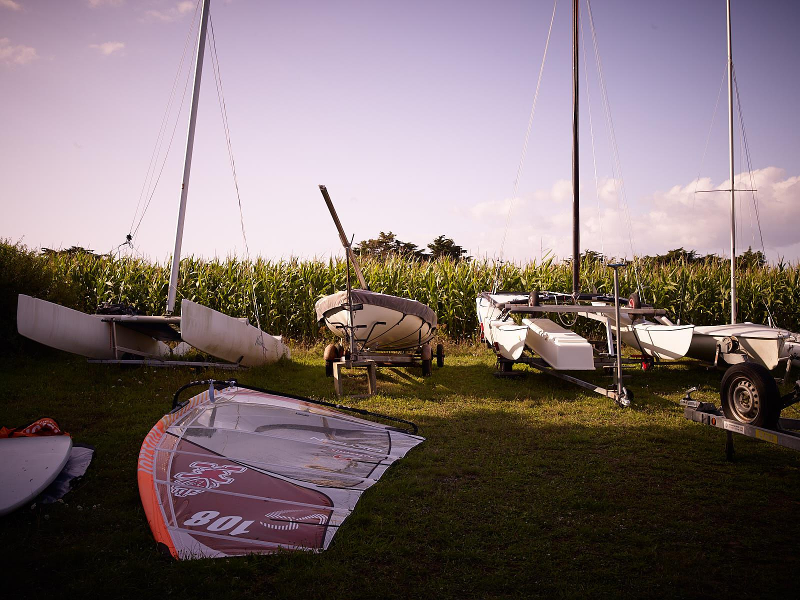 Club Nautique du Rohu - The land available for boat parking rental
