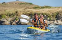Kayaking with friends or family at the Club Nautique du Rohu - Morbihan - Brittany