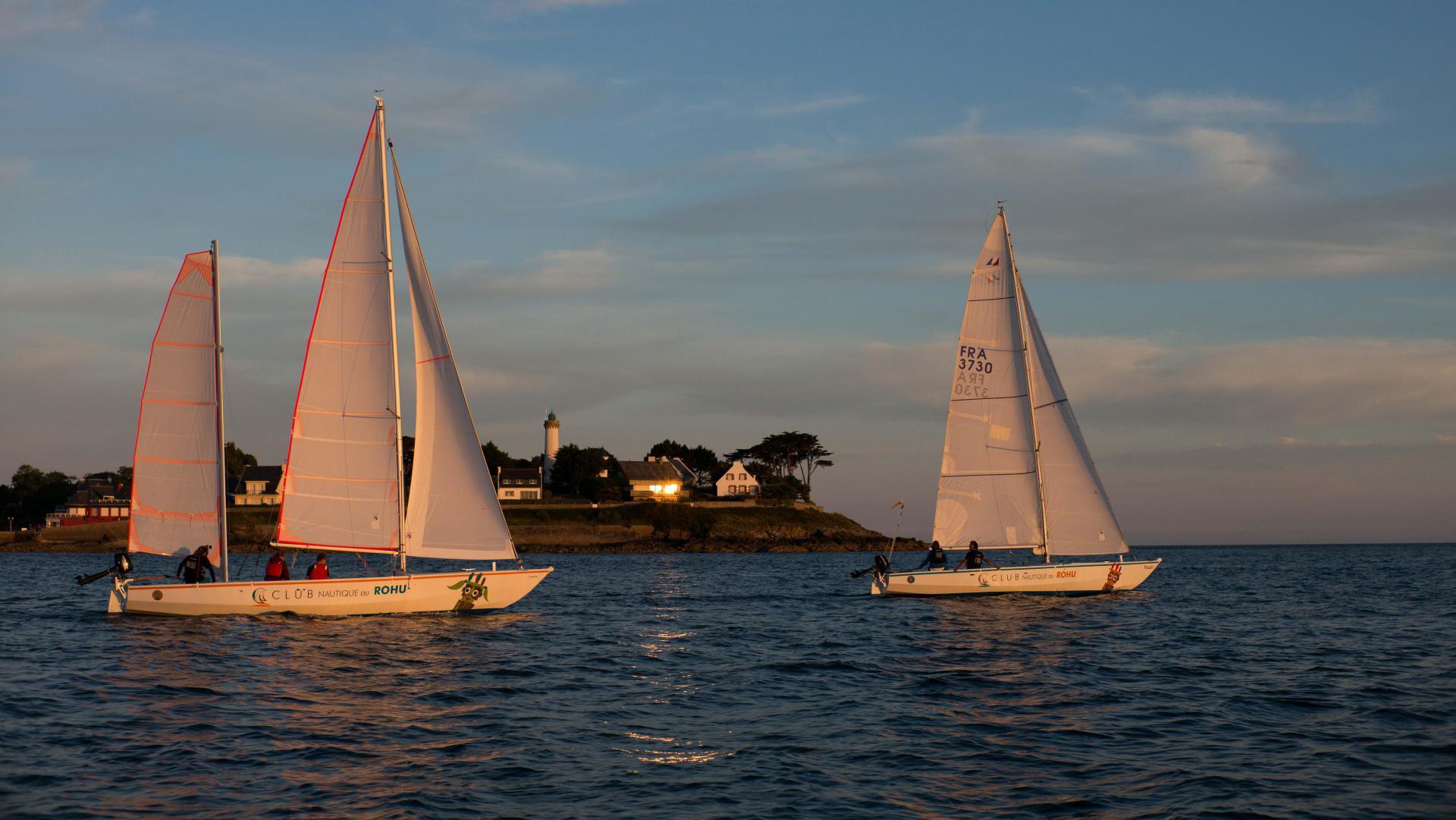 Balade nautique en Mentor - Sortie du Golfe du Morbihan