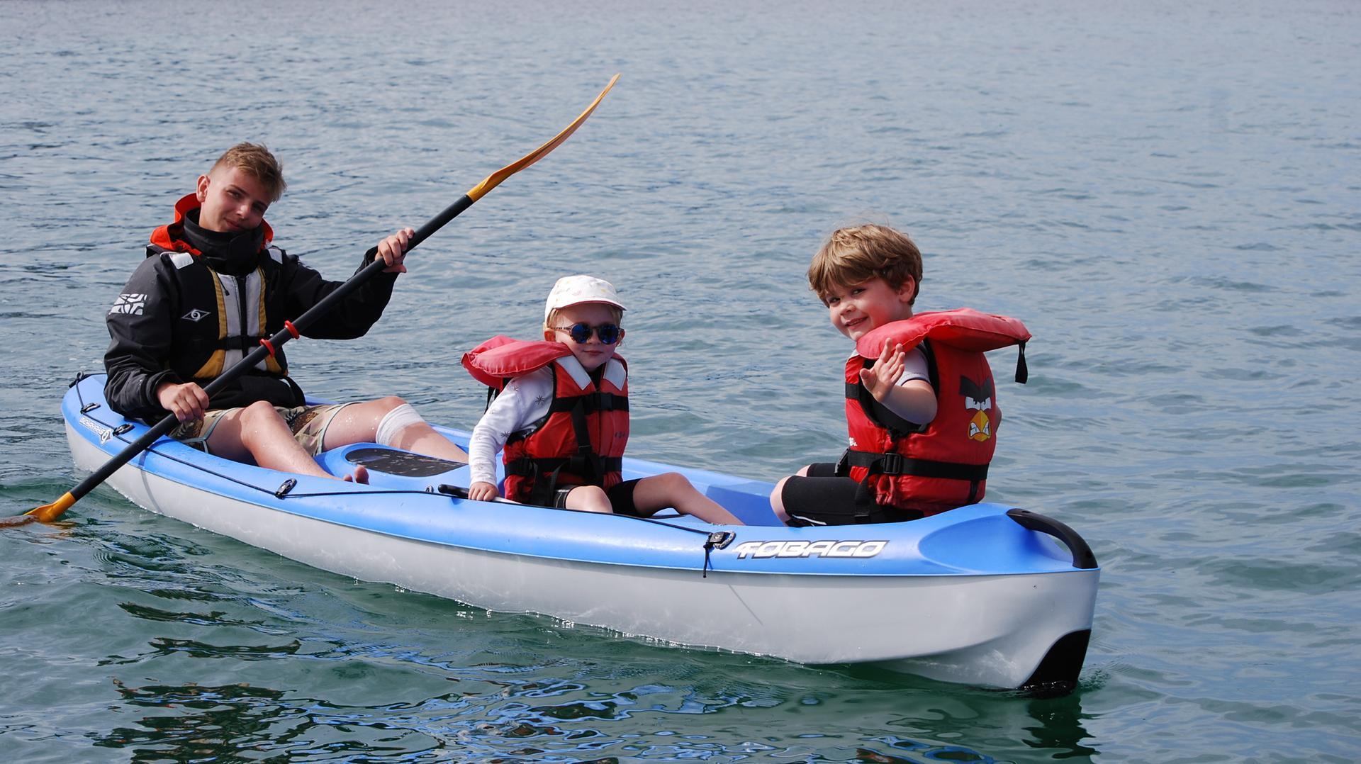 Sortie en kayak pour les Moussaillons au Club Nautique du Rohu