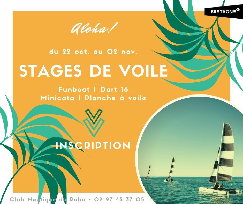 Stage de voile - vacances de la Toussaint - Club Nautique du Rohu