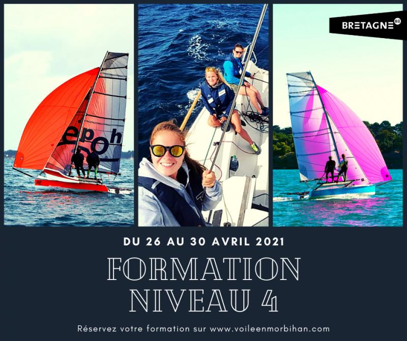 Formation niveau 4 FFVoile au Club Nautique du Rohu du 26 au 30 avril 2021.