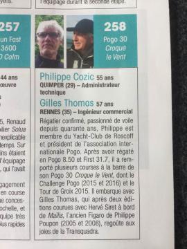 Gilles, Philippe et Croque le vent
