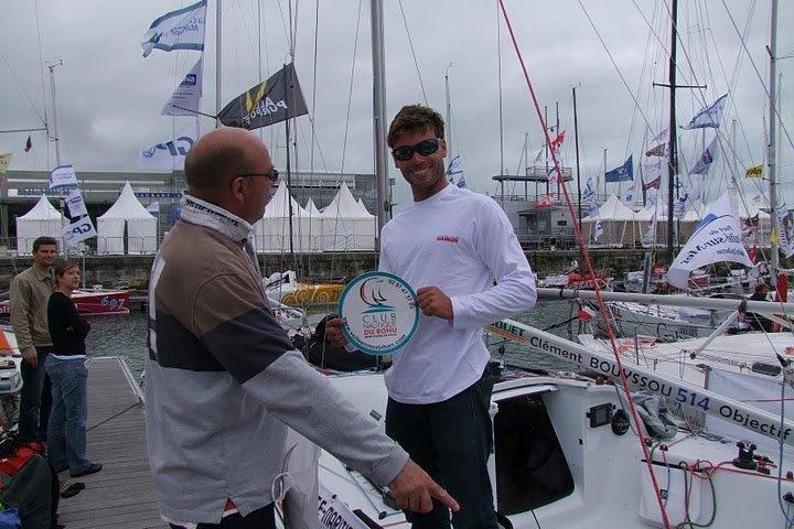 Le Rohu avec Clément Boyssou au départ de la Mini Transat 6.5
