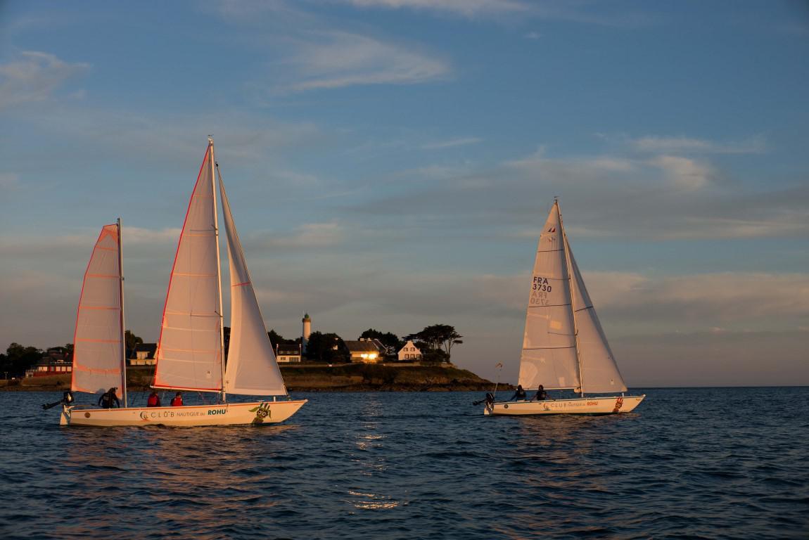 Paulo et Paulette les Mentor dans le Golfe du Morbihan