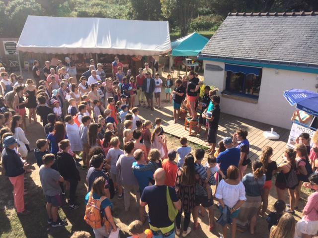Club Nautique du Rohu - pot de fin de stage, remise des carnets FFV