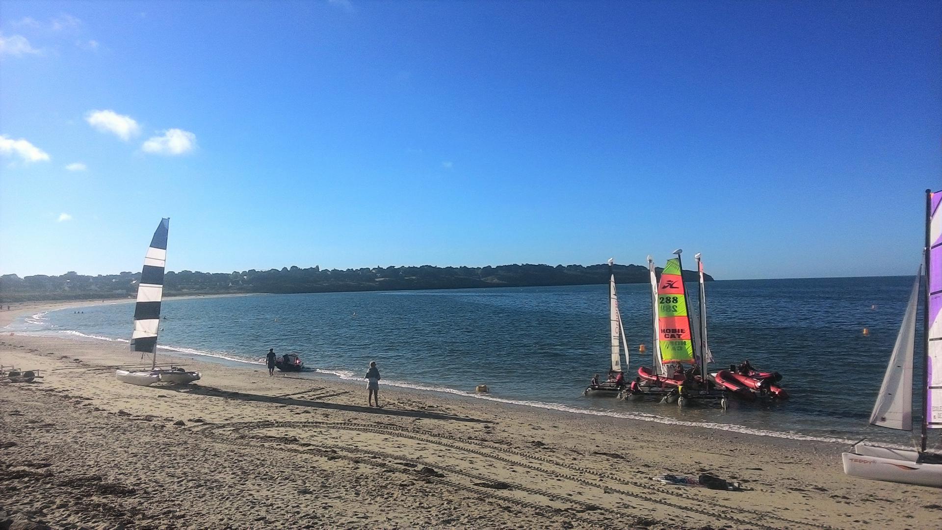 Club Nautique du Rohu - Sortie sous un beau soleil de printemps Plage des Goh Velins