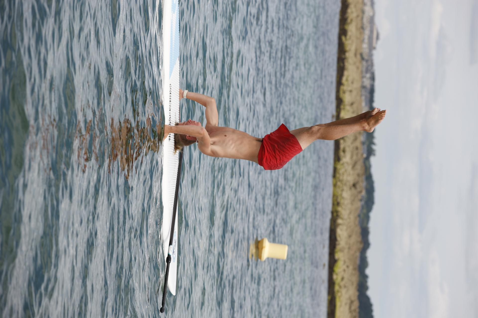 Club Nautique du Rohu - Yoga Paddle, bravo Ilan !