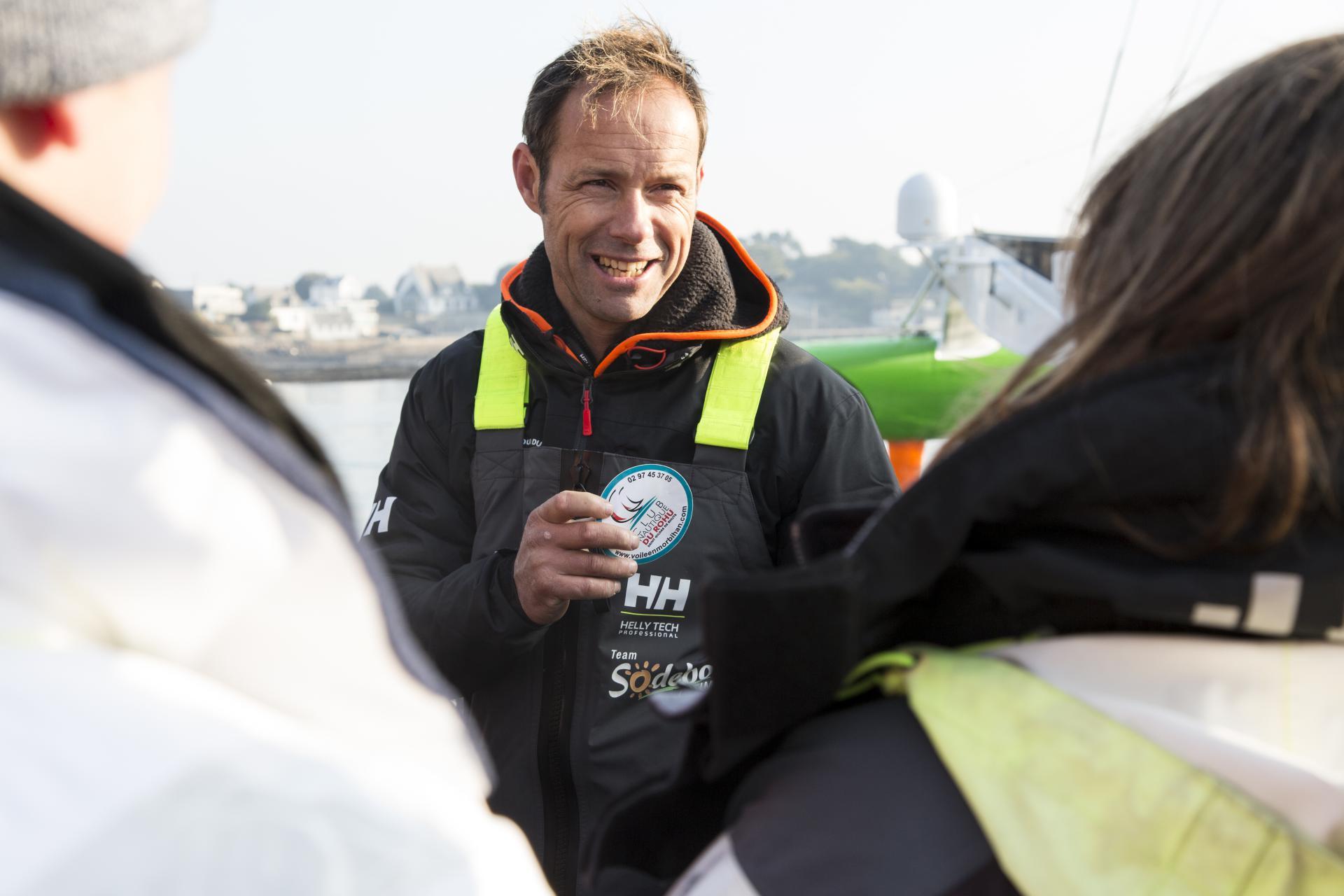 Thomas Coville à son arrivée de Tour du Monde !