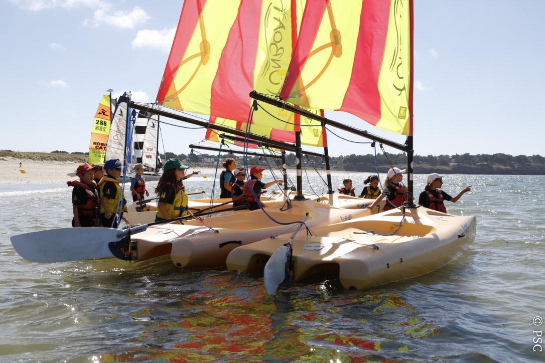 Club Nautique du Rohu - Départ des Funboat